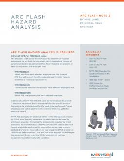 Cover of AFN3 - Arc Flash Hazard Analysis - Tech Topic