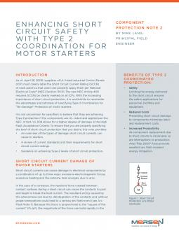 Cover of CPN2 - Enhancing Short Circuit Safety with Type 2 Coordination for Motor Starters - Tech Topic
