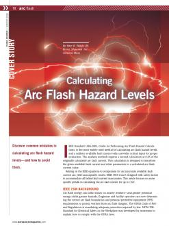 Cover of Calculating Arc Flash Hazard Levels Pure Power Article