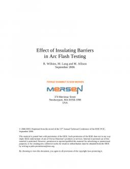Cover of Effect of Insulating Barriers in Arc Flash Testing - White Paper